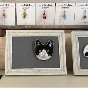 ビーズ刺繍のリアル猫ちゃん