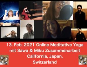 行動&挑戦したい仲間が集ったオンライン瞑想&お茶会の報告。2021年2月13日
