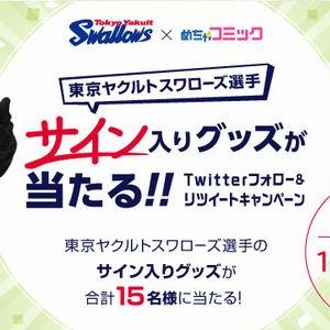 【2019/12/08締切】:東京ヤクルトスワローズ選手のサイン入りグッズが当たる!