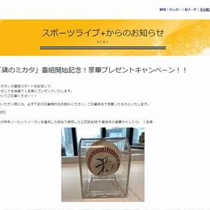 【2020/07/18締切】:千賀投手直筆サイン入りノーヒットノーランを達成した試合で使用した公式試合球
