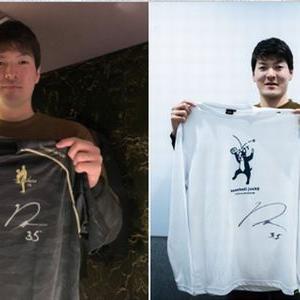 【2021/02/11締切】:レンジャーズ 有原航平投手のサイン入りTシャツが当たる!