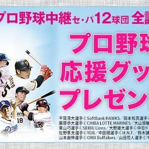 【2021/06/30締切】:12球団 プロ野球応援グッズを合計120名様にプレゼント!
