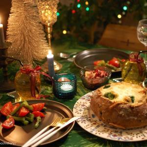 可愛いクリスマスディナー献立『カンパーニュシチュー』
