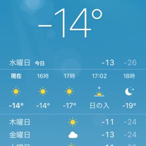 最高最低気温がマイナス