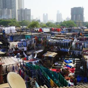 ゴアからムンバイへ。巨大な洗濯場ドービーガート