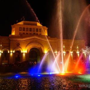 大迫力の噴水ショー!で楽しむアルメニアの夜