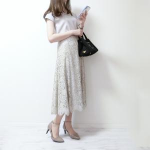 シルエットの美しさに毎回惚れ惚れしてしまうレーススカート♡
