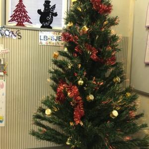 裾野市 幼児教室 お教室もクリスマス気分