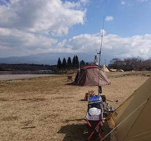 田貫湖キャンプ場所(2019年3泊目)