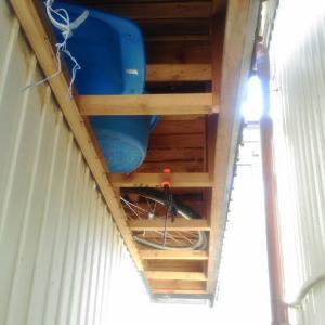 車庫の終了 午後は里山散策