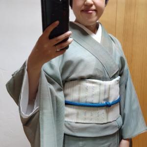 紗の着物で鎌倉ぼんぼり祭り2020①
