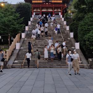 紗の着物で鎌倉ぼんぼり祭り2020③