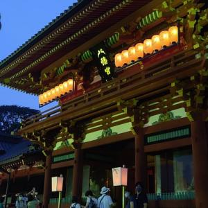 紗の着物で鎌倉ぼんぼり祭り2020④