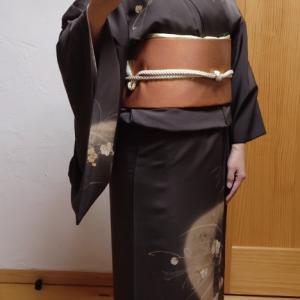 満を持して☆秋のセミフォーマル着物コーデ
