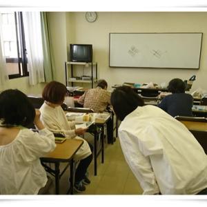 生徒さんのがま口ポシェット第一号完成!