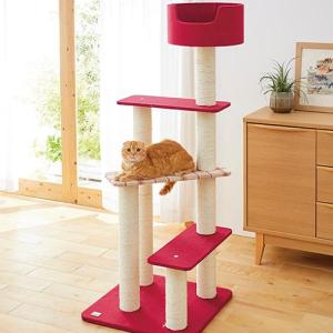 らせん状ステップで子猫からシニア猫までのぼりやすいタワー「ニューペントハウスⅡ」
