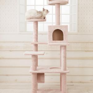麻のニオイが苦手な方におすすめ!麻縄不使用の据え置き型タワー「Mauタワーレーヌ」(おすすめのキャットタワー)