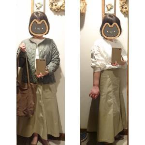 ユニクロマーメイドロングスカートでご近所コーデ