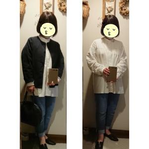 DOORSブラウス+Uniqloパンツ+オローネジャケットで塾懇談へ~