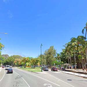 ハワイの道を行く その21 カラカウア通り、モンンサラット通り、パキ通り、レアヒ通り