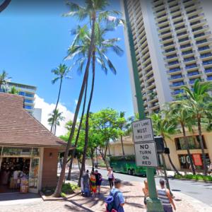 ハワイの道を行く その30 カラカウア通り、カイウラニ・アベニュー〜クヒオ通り