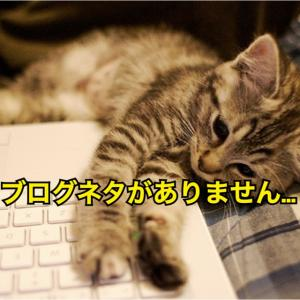 【HELP】ブログのネタがありません…。