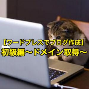 WPでブログを作る【初級編~ドメイン取得~】