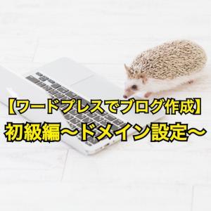WPでブログを作る【初級編~ドメイン設定~】