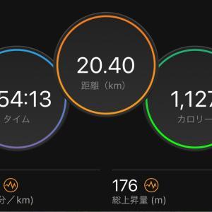 9/26 ジョグ 20km、9/20〜9/26の記録