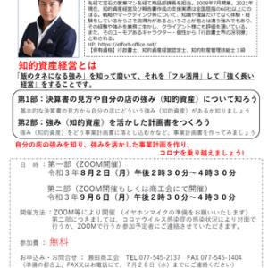 事前情報:瀬田商工会で事業計画セミナー講師