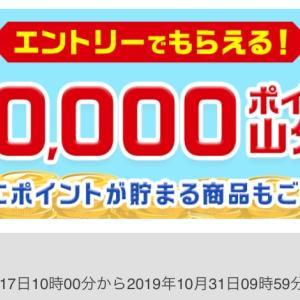 5万ポイント山分け♡エントリーでもらえます(*⁰▿⁰*)