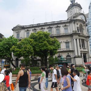 香港4日目⑩ バスでマカオへ⑤1時間で世界遺産11個 セナド広場や聖ドミニコ教会^0^