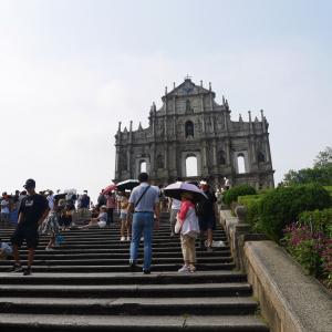 香港4日目⑬ バスでマカオへ⑧1時間で世界遺産11個 聖ポール天主堂跡^0^