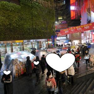 ソウル3日目⑨ 明洞 地下街と雨降りの中を屋台ブラブラ^0^