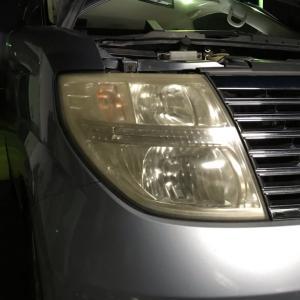 ヘッドライト簡易磨き before   after
