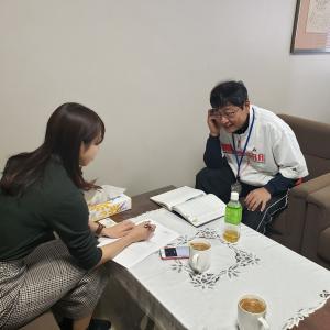 大学の卒論制作のために、相模原ギオンアリーナの館長にインタビュー。