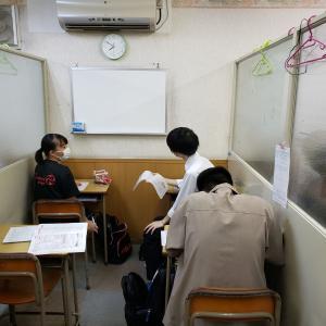 夏休み明けの学校の小テスト対策、一問一答で最終確認をしています。高得点とれるといいね(ノ^^)ノ