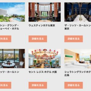 【マリオット】最大20%のホテル宿泊費/直営レストラン代に利用可能なバウチャーチケット