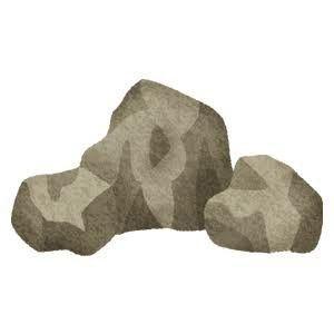 岩がたくさん!