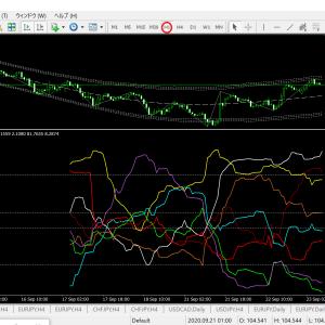 ベリーチャート   現時点の通貨別強弱チャート1時間足(ドル円ベース)今週・来週は大荒れは稼ぎ場