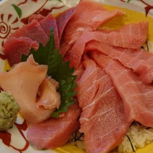 マグロ丼と海鮮かき揚げ    魚元   9/20
