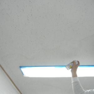 天井パウダー塗装 指で触ると落ちますが欠陥ではありません