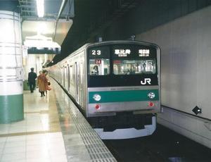 新宿から帰宅ラッシュの列車で