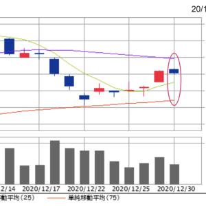 終値17,040円。オリエンタルランド株、2020年は+2,160円(+14.5%)の上昇。