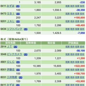 私の株式ポートフォリオを公開します。2021年4月前期。2ヶ月で200万円のマイナス。