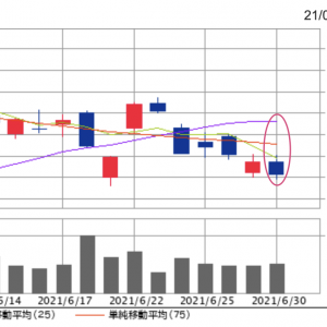 終値15,830円。オリエンタルランド株、6月は8勝13敗1分けで480円(2.9%)のマイナス。