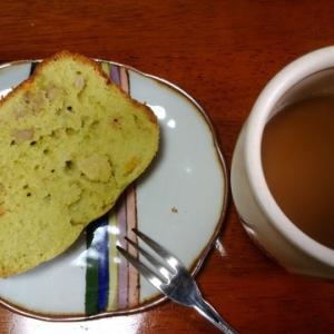 ホームベーカリーで作る 「ニンジンとリンゴとバナナの抹茶パウンドケーキ」
