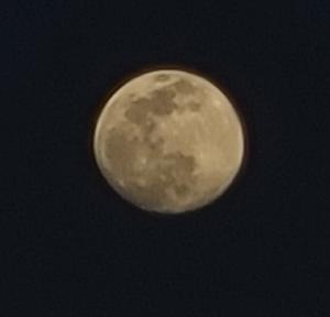 GALAXY S20 5G で月を撮影してみた (2021年4月25日撮影)