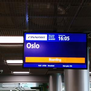 Day 2 ヘルシンキ→ノルウェーのオスロに移動