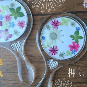 【youtube動画】気軽に作れる押し花手鏡の作り方/アクリルベース/ハンドメイド